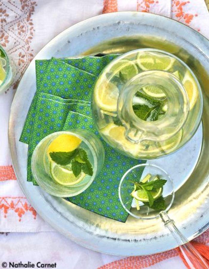cocktail citron menthe gingembre nos 10 recettes bikini elle table. Black Bedroom Furniture Sets. Home Design Ideas