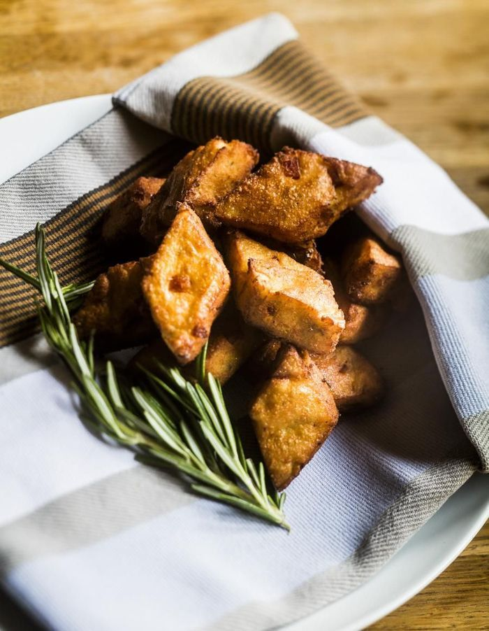 Panisses au chorizo et romarin