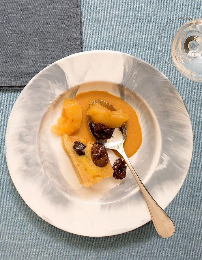 Terrine de pommes et pruneaux, sauce caramel de Françoise Mutel