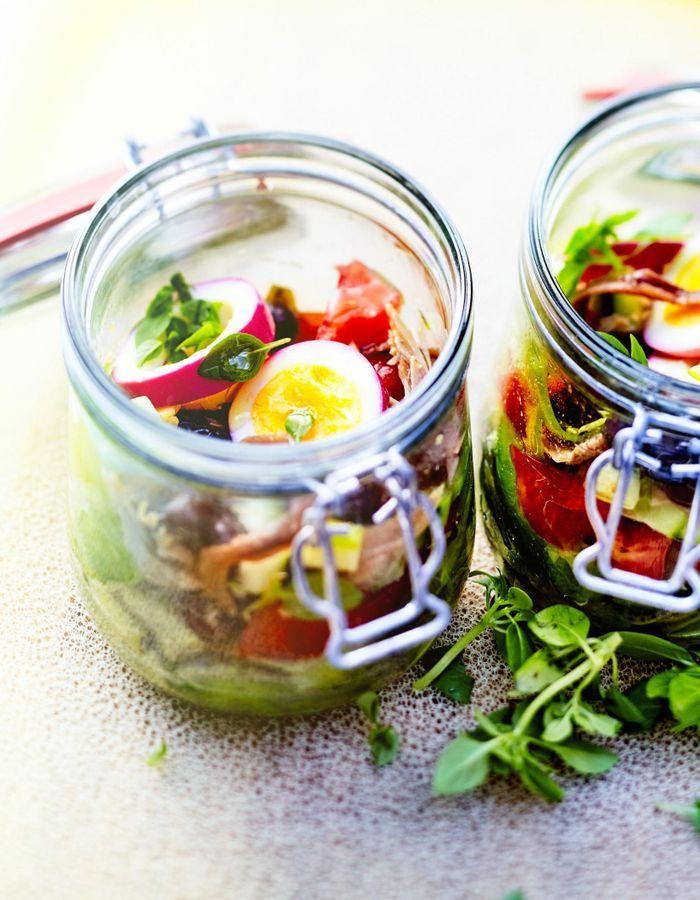 Salade « pan bagnat » en bocal
