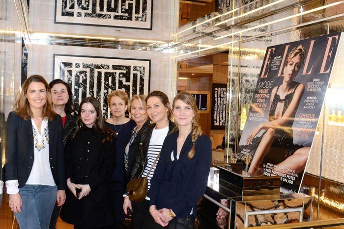 L'équipe ELLE - Jeanne de Ménibus, Nathalie Dupuis, Flavie Philipon, Pascale Frey, Elisabeth Sirot (Guerlain), Olivia de Lamberterie et Laura Chenal