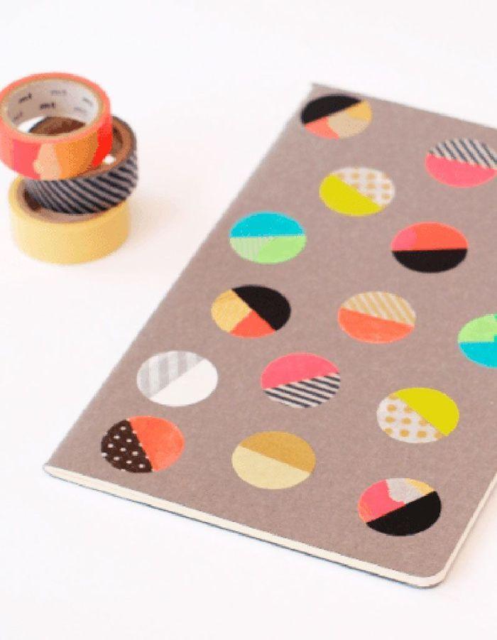 masking tape cahier masking tape 20 diy fun et color s pour s 39 inspirer elle. Black Bedroom Furniture Sets. Home Design Ideas