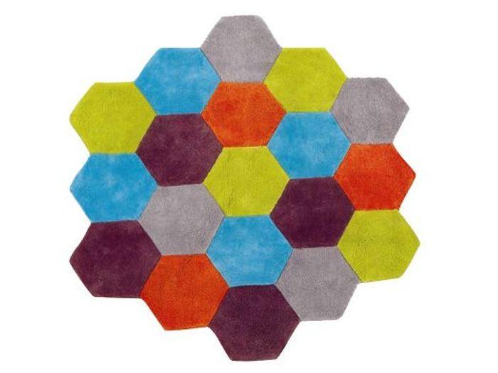 tapis chambre d enfant tapis lavable pois roseblanc 100. Black Bedroom Furniture Sets. Home Design Ideas