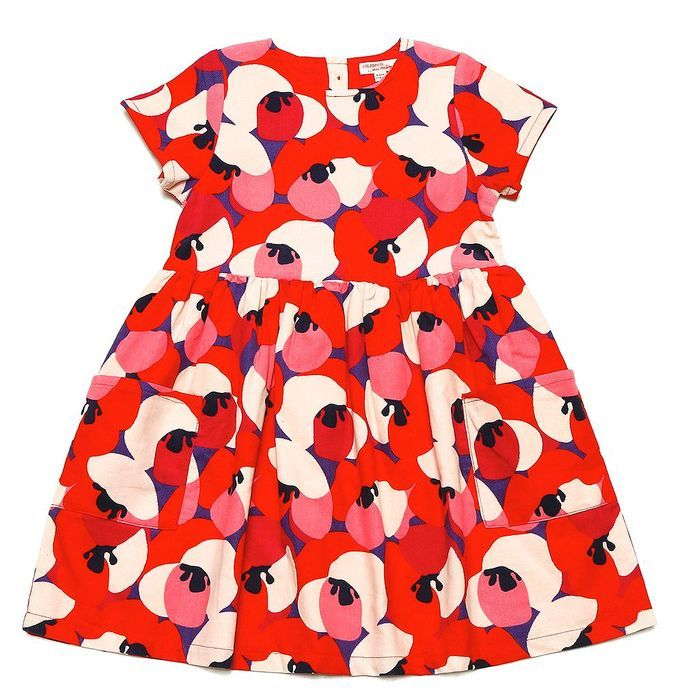 Robe velours motifs fleurs, DPAM