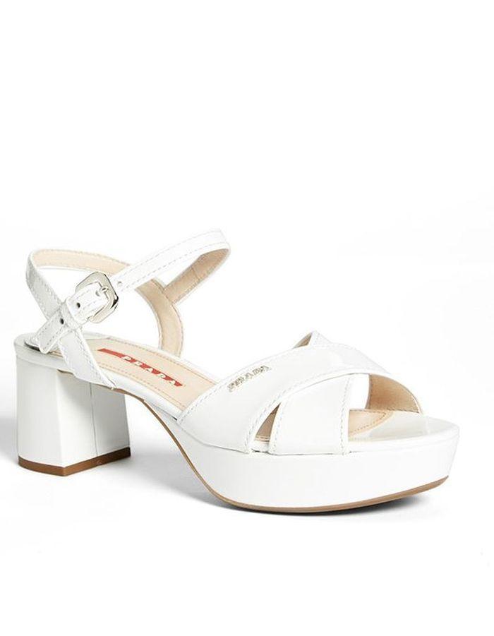 Sandales à plateformePrada