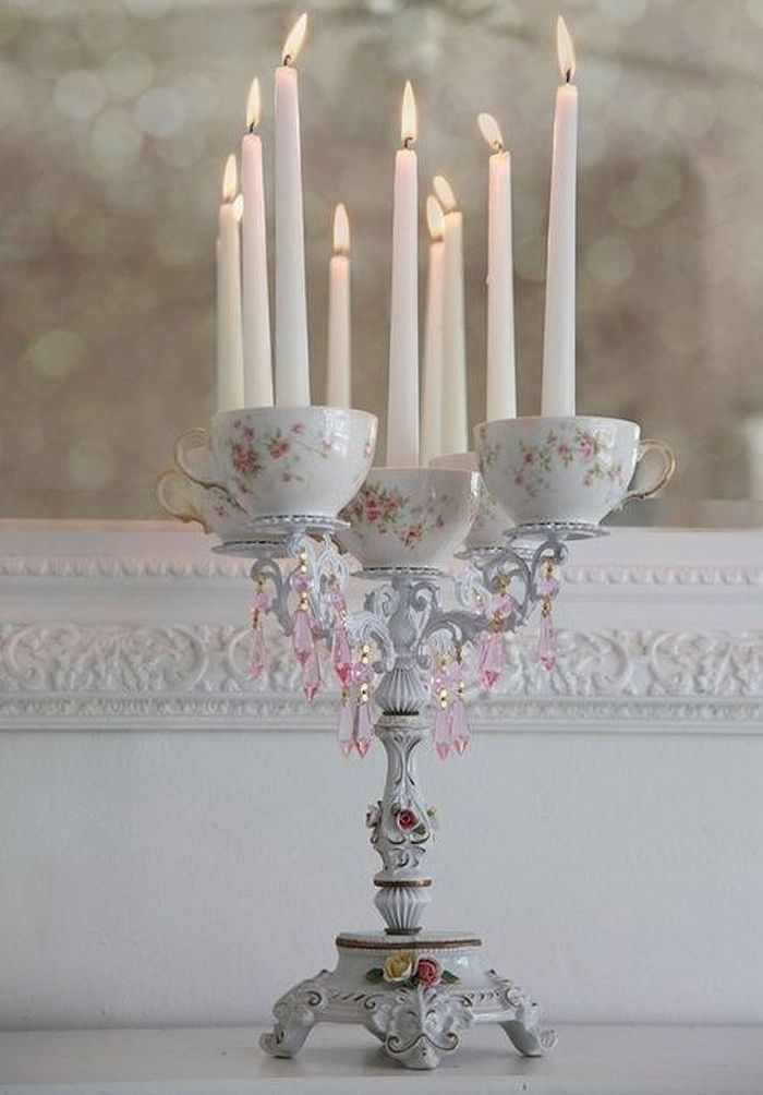 Bougeoir original 20 bougeoirs qui ont du style elle for Bougeoir shabby chic
