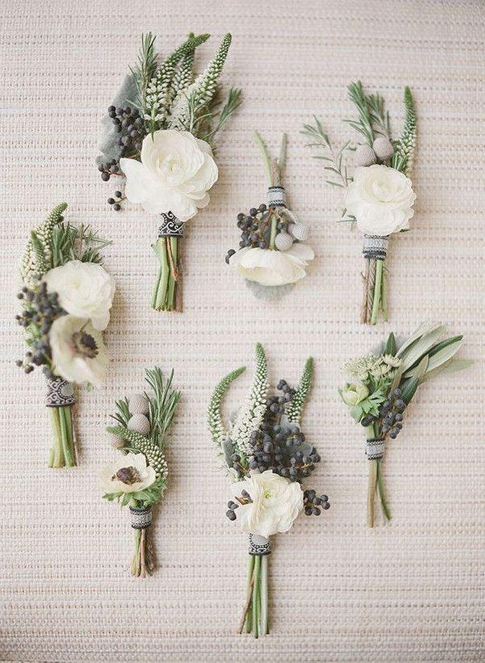 bouquet de fleurs blanches pour invit s 25 bouquets de. Black Bedroom Furniture Sets. Home Design Ideas