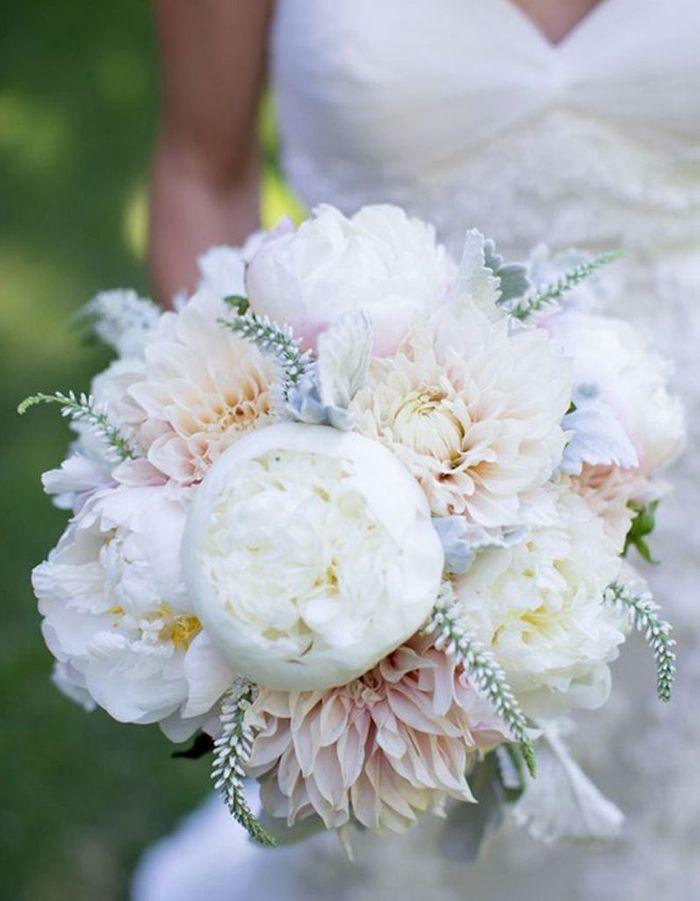 Bouquet de mari e dahlia 20 beaux bouquets de mari e pour gayer votre robe elle - Bouquet pivoine mariage ...