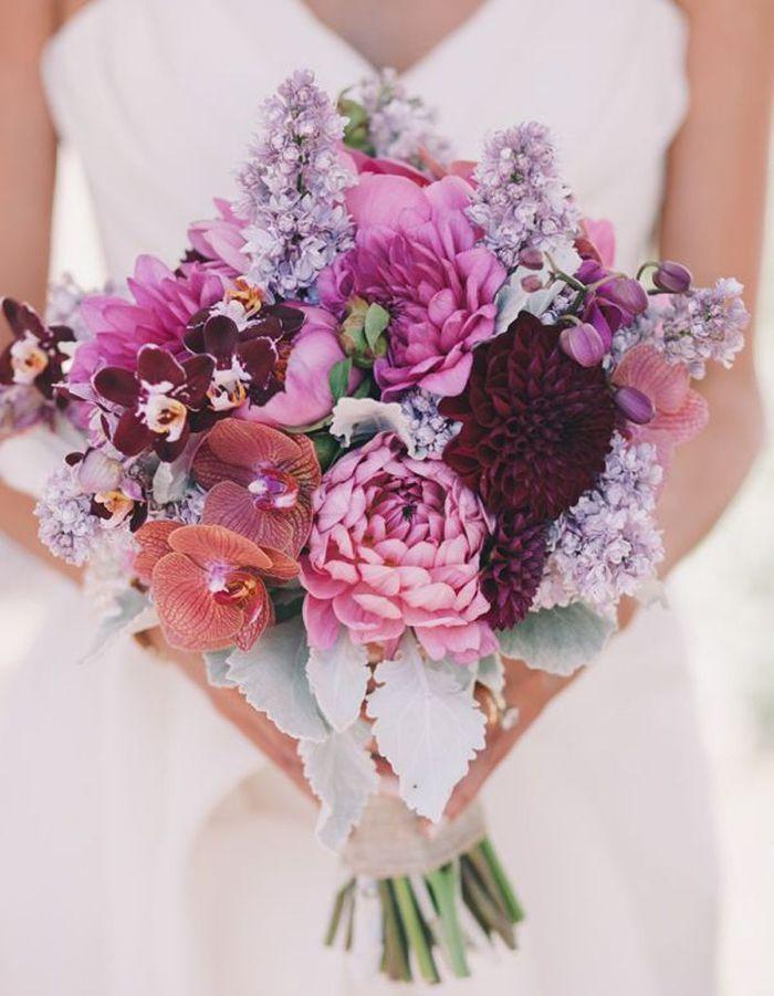 bouquet de mari e orchid e 20 beaux bouquets de mari e pour gayer votre robe elle. Black Bedroom Furniture Sets. Home Design Ideas