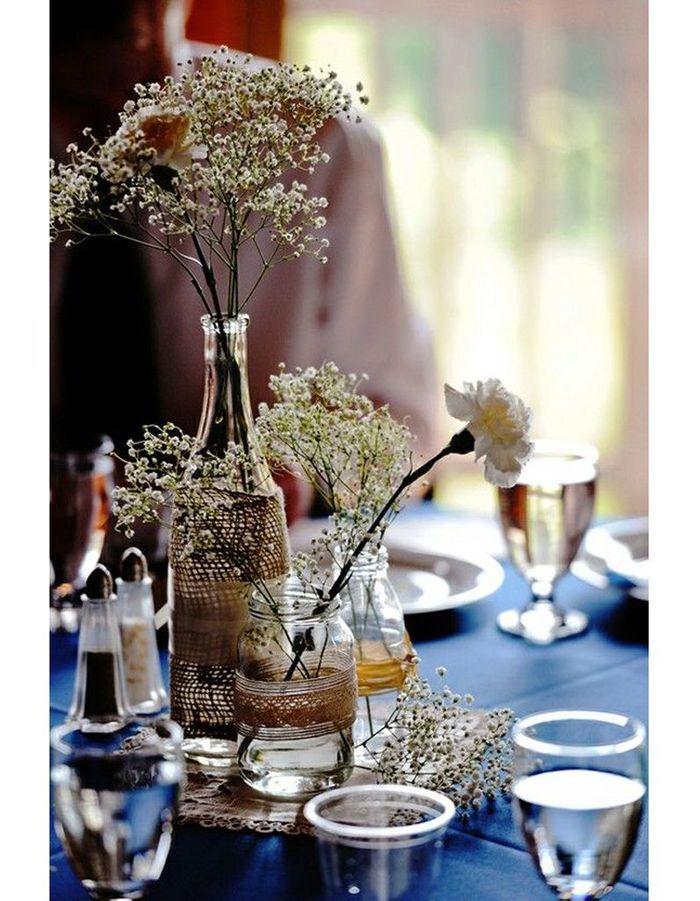centre de table diy centre de table nos 20 jolies id es pour un mariage r ussi elle. Black Bedroom Furniture Sets. Home Design Ideas