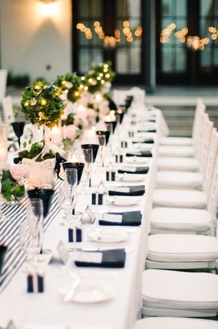 black and white wedding reception decorations th 232 me mariage noir et blanc quel th 232 me pour mon mariage 1828