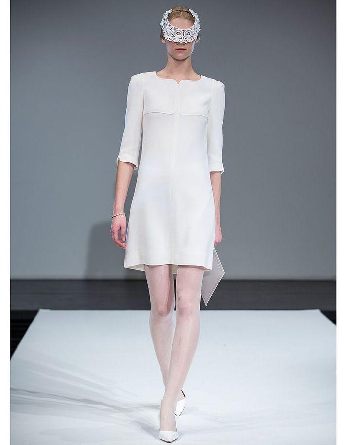 La petite robe blanche de courreges