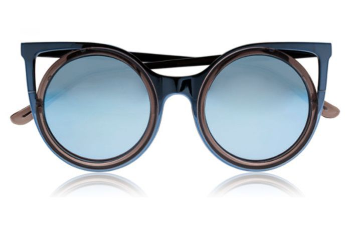 Lunettes de soleil miroir bleu clair seafolly 20 - Miroir en forme de lunette ...