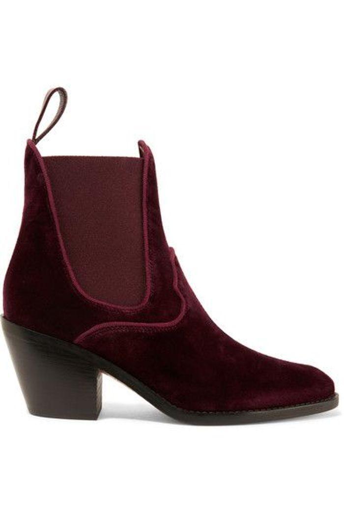 chaussures en velours chlo on craque pour des chaussures en velours elle. Black Bedroom Furniture Sets. Home Design Ideas
