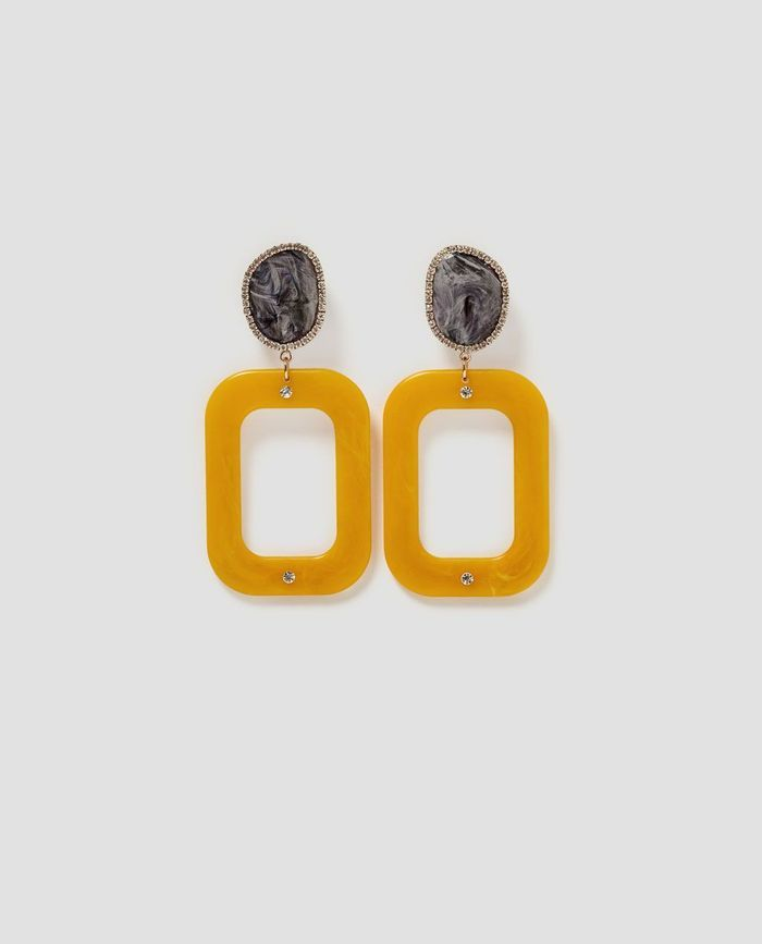 Boucles d'oreilles jaune safran Zara