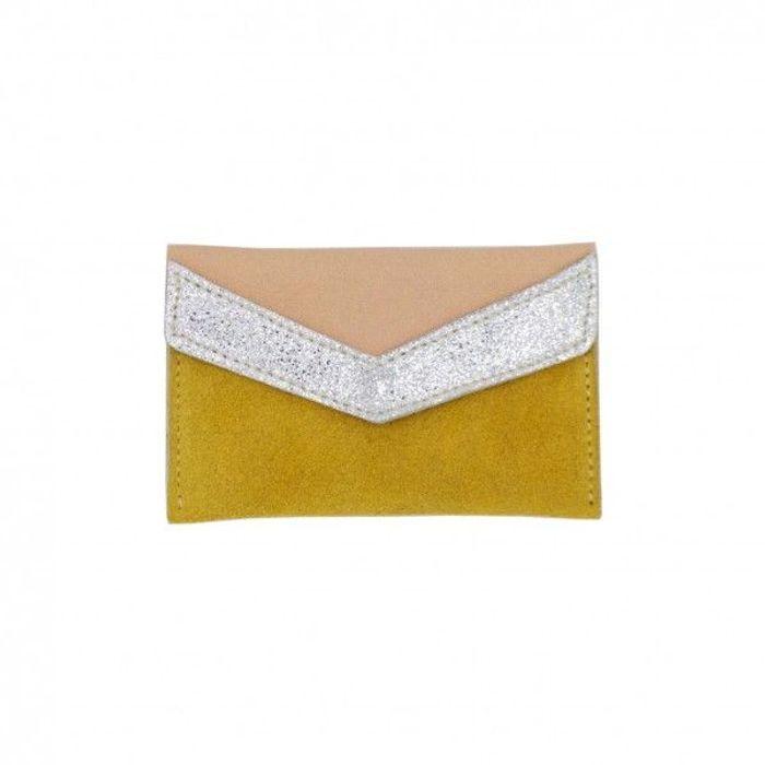Pochette jaune safran Clemence Cabanes