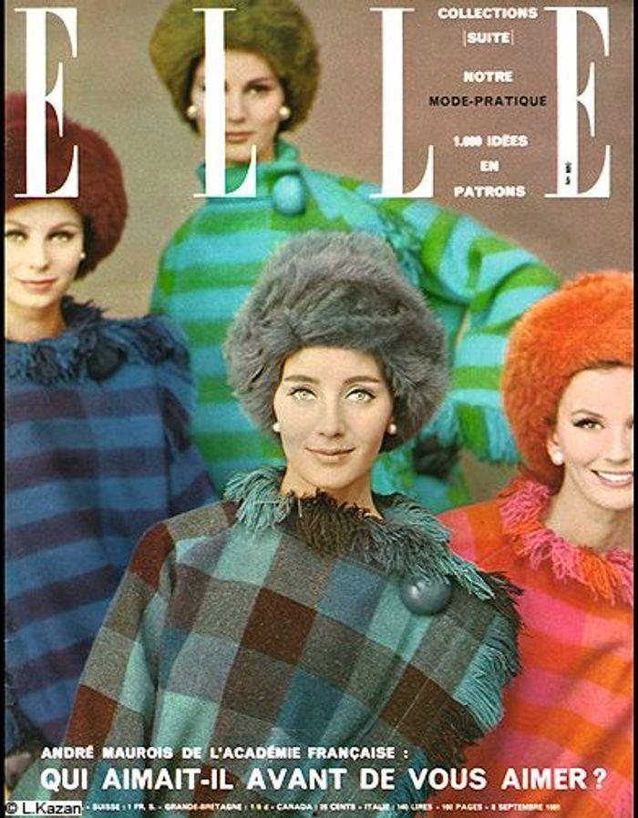 couverture elle magazine 1961 les plus belles couvertures de elle c l brent la journ e. Black Bedroom Furniture Sets. Home Design Ideas