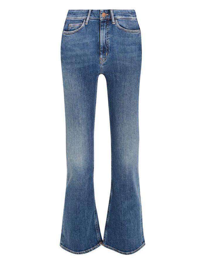 pantacourt en jean bootcut mih jeans 20 mod les qui r habilitent le pantacourt en jean elle. Black Bedroom Furniture Sets. Home Design Ideas