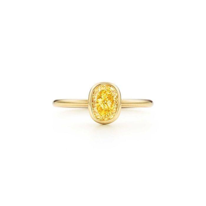 Bague en diamant jaune Tiffany Bezet