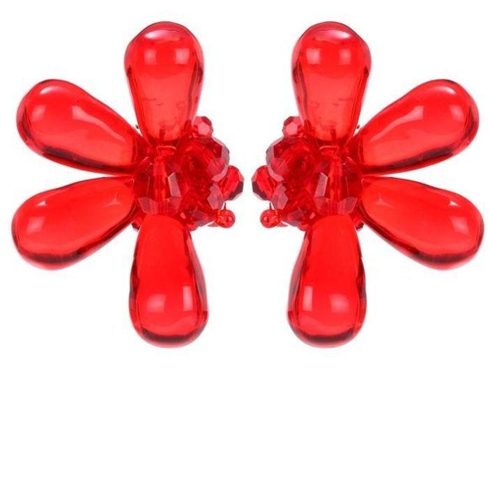 Grosses boucles d'oreilles en plexi Simone Rocha