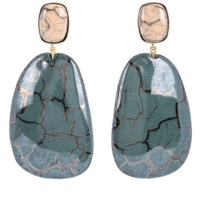Grosses boucles d'oreilles marbrées Isabel Marant