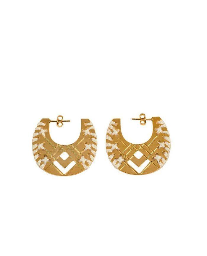 Boucles d'oreilles dorées Camille Enrico