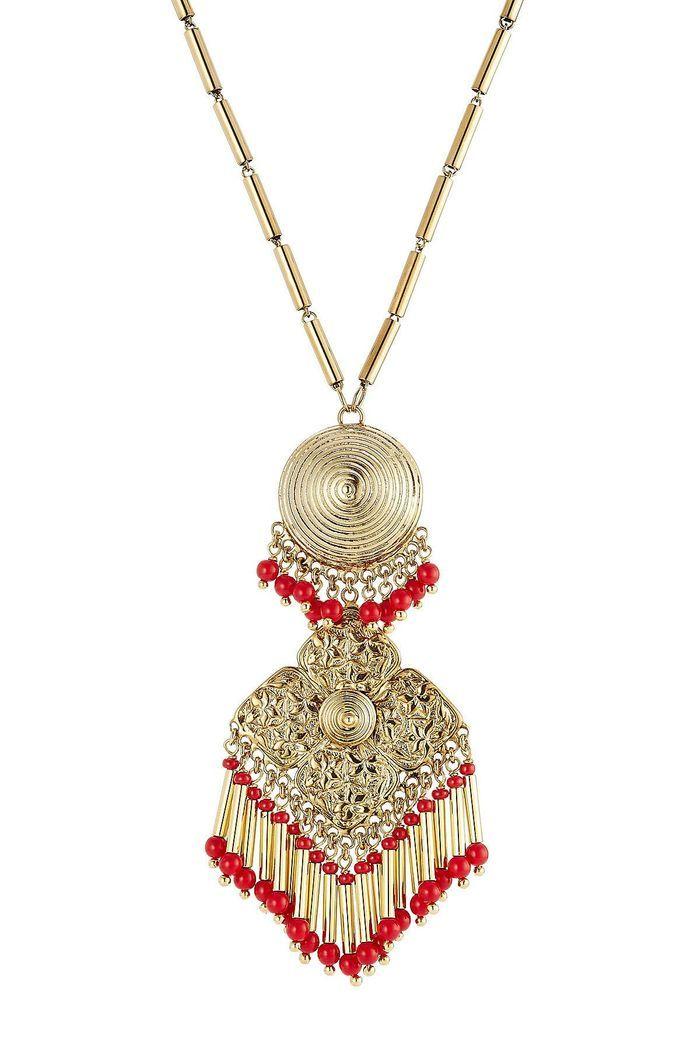 Colliers à perles façon aztèque Etro