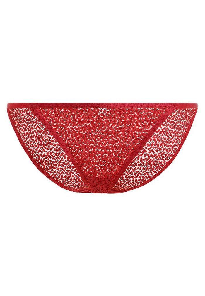 Lingerie rouge culotte en dentelle taille basse DKNY Intimates