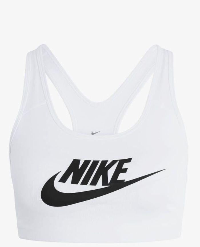 Brassière blanche à logo Nike