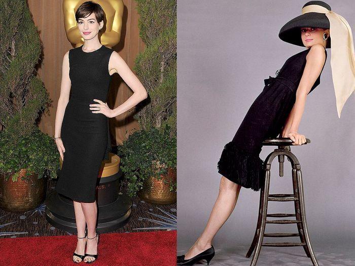 Audrey Hepburn Anne Hathaway Look Alike