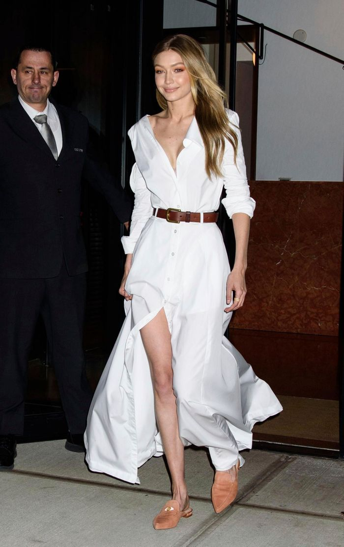 Le blanc total de Gigi Hadid