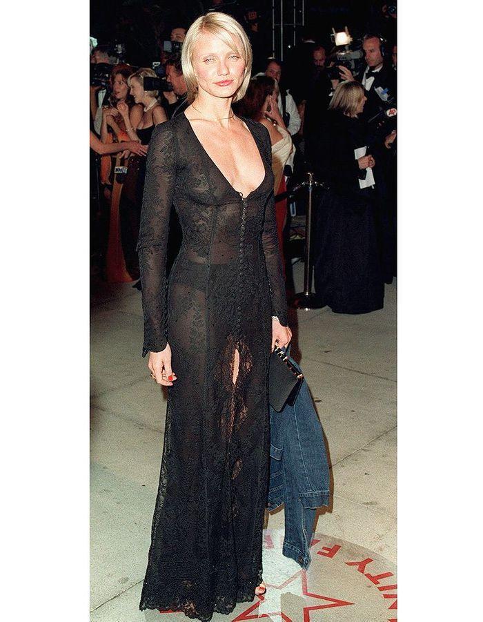 Cameron Diaz en robe transparente