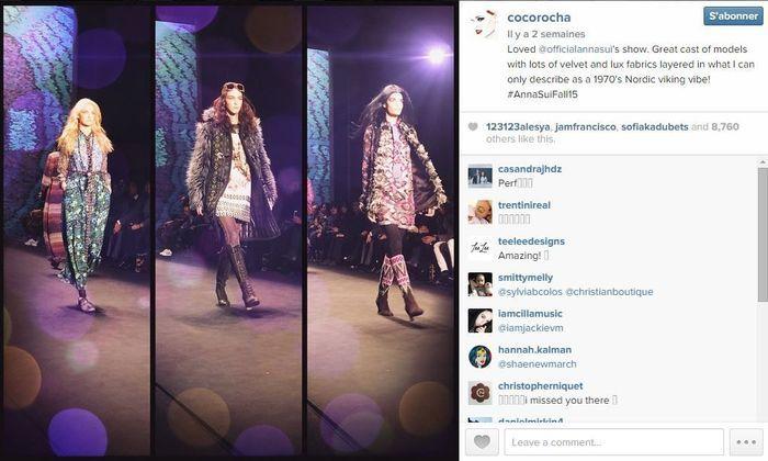 Coco rocha les 101 comptes instagram suivre pendant la fashion week elle - Qui suivre sur instagram ...