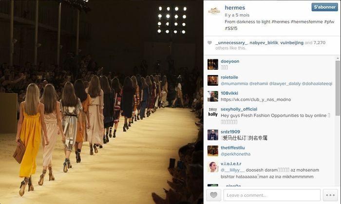 Herm s les 101 comptes instagram suivre pendant la fashion week elle - Qui suivre sur instagram ...