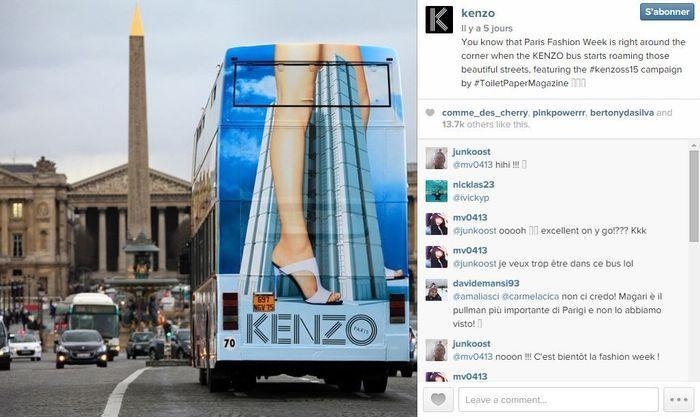 Kenzo les 101 comptes instagram suivre pendant la fashion week elle - Qui suivre sur instagram ...