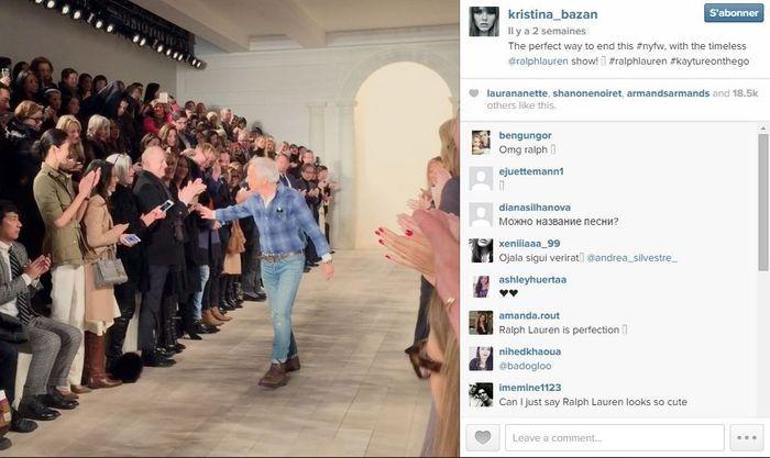 Kristina bazan les 101 comptes instagram suivre pendant la fashion week elle - Qui suivre sur instagram ...