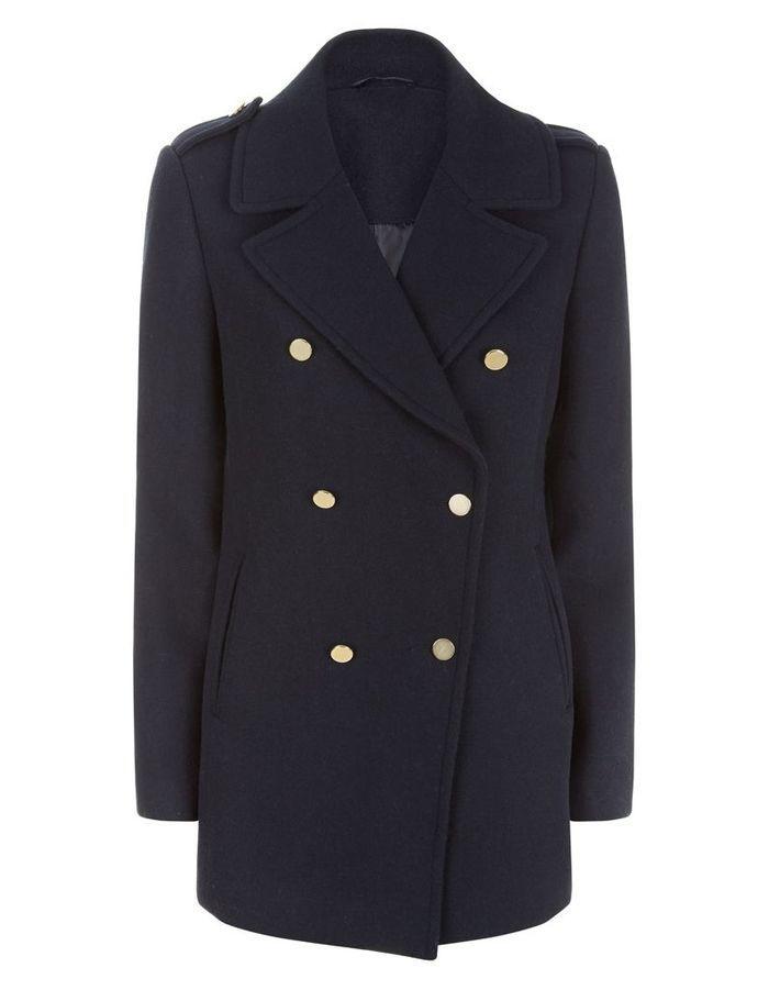 caban femme bleu marine laine new look 25 beaux cabans pour tre navy chic elle. Black Bedroom Furniture Sets. Home Design Ideas
