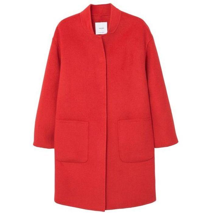 Manteau rouge déstructuré Mango