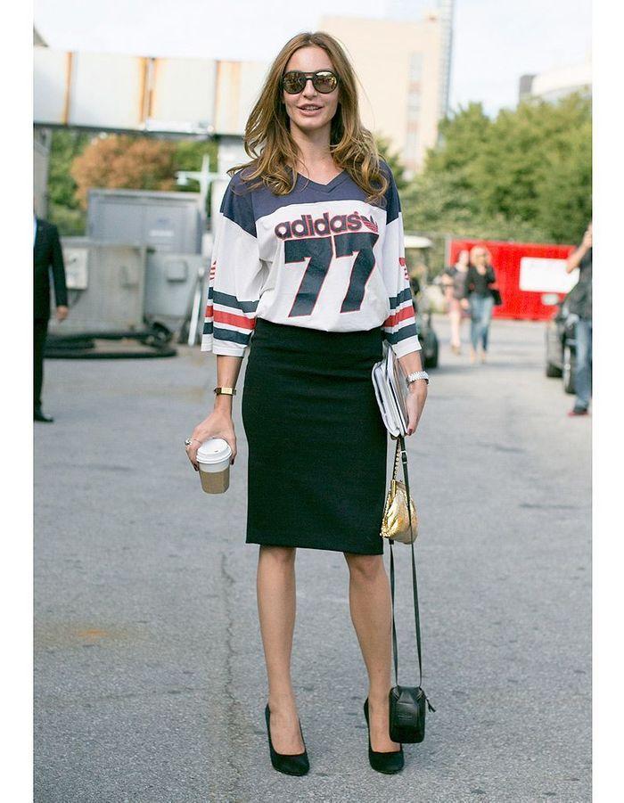 Maillot De Baseball 1 Street Style Fashion Week Les 14 Nouveaux Mix Mode Elle