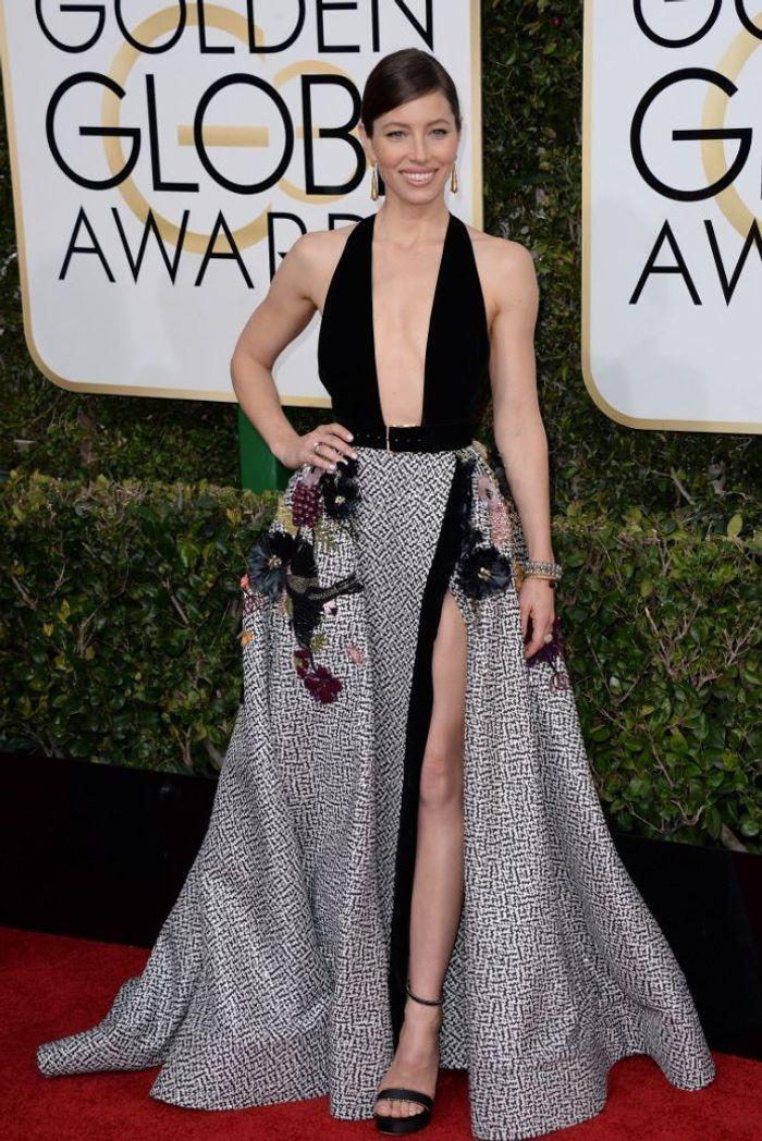 La robe fendue de Jessica Biel