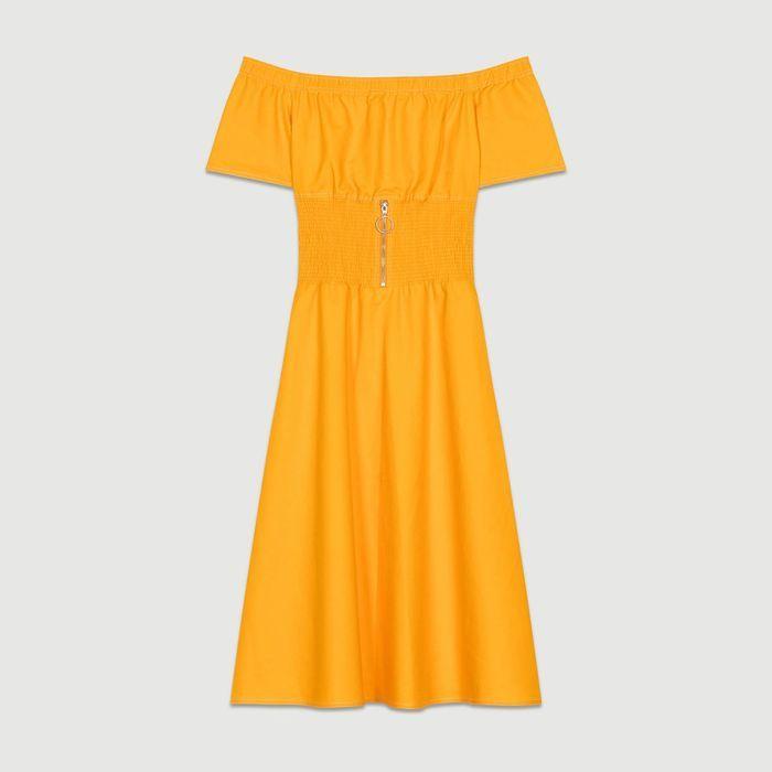 Robe jaune Maje