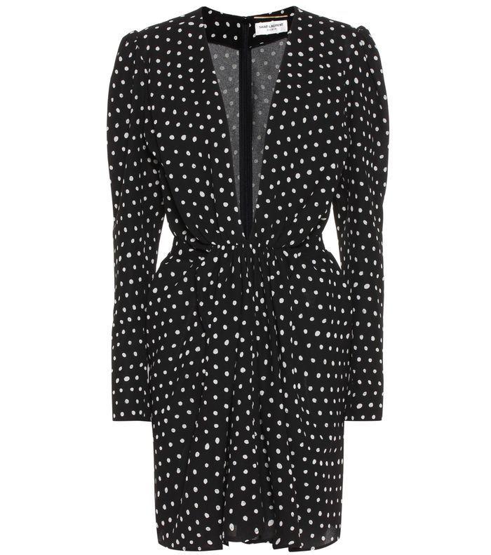 Robe à pois décolletée Yves Saint Laurent