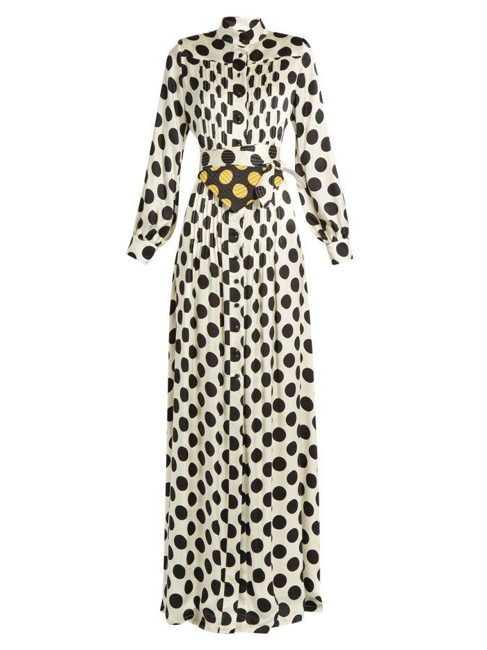 Robe à pois façon chemise Duro Olowu