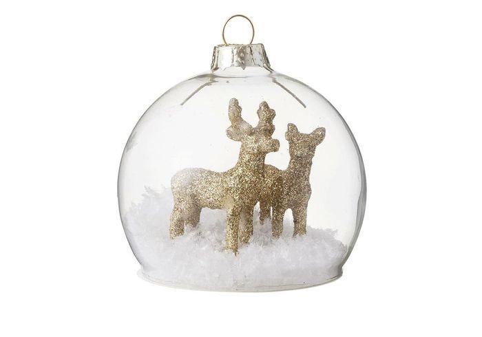 Boule de Noël avec figurines