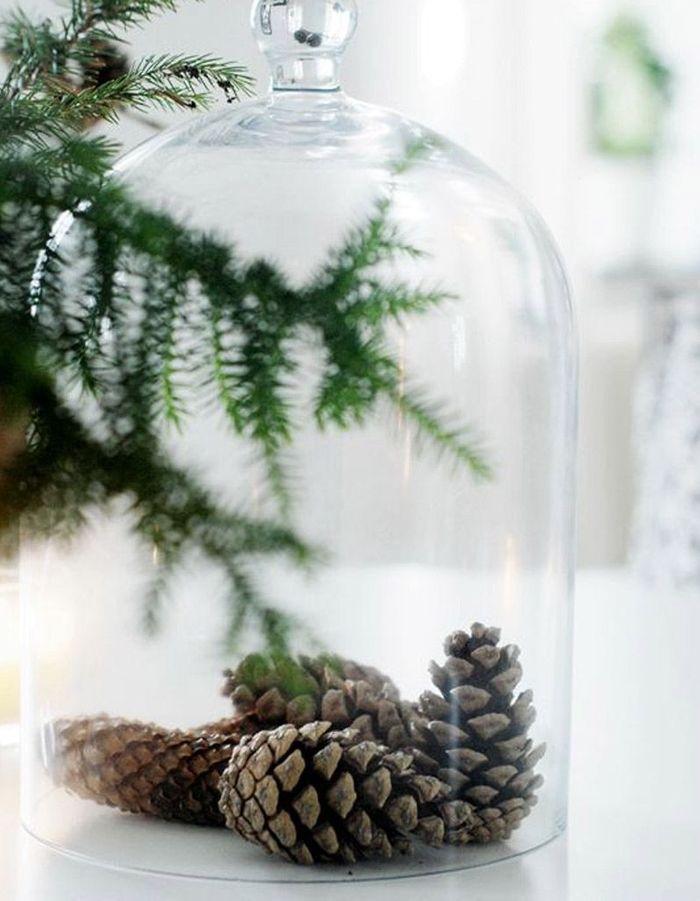 une cloche en verre no l express 40 id es de derni re. Black Bedroom Furniture Sets. Home Design Ideas