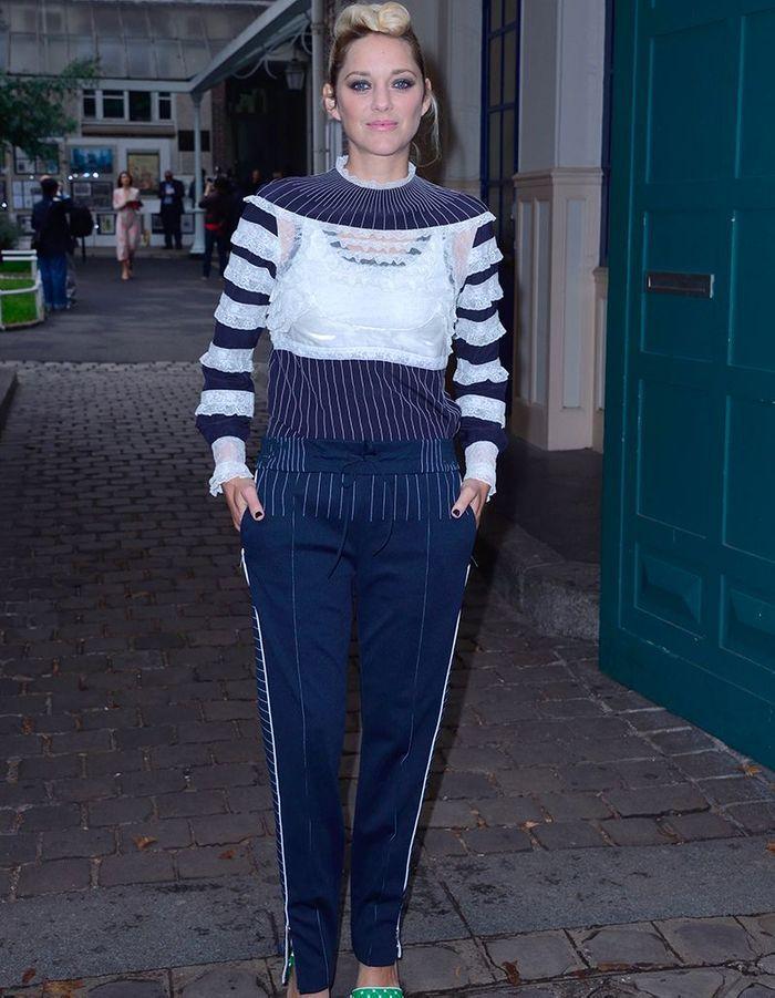 Marion Cotillard au défilé Valentino