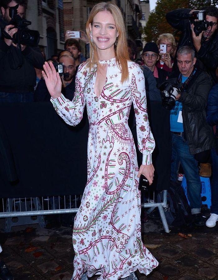 Natalia Vodianova au défilé Valentino
