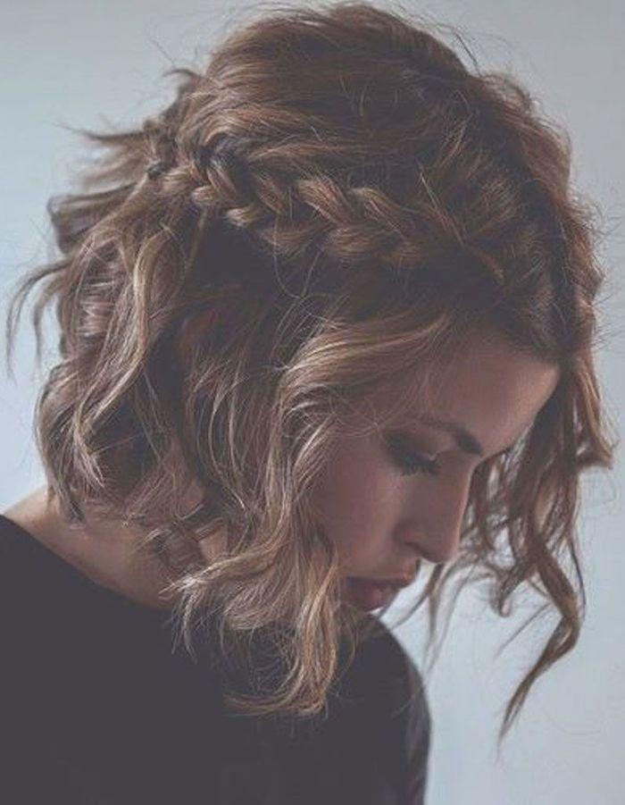 Un carru00e9 wavy et tressu00e9 - Cheveux wavy  les 30 plus belles photos Pinterest - Elle