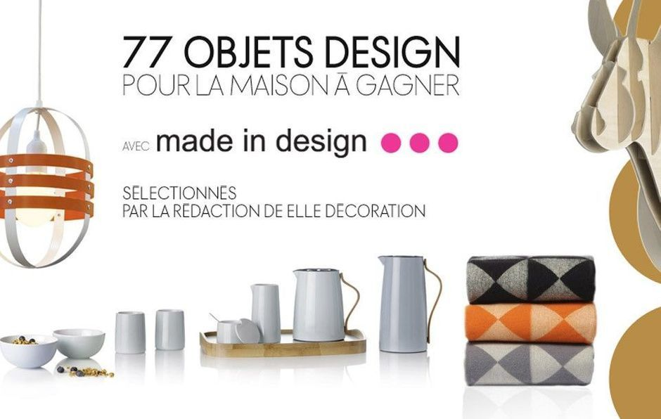 CONCOURS ELLE DECORATION x MADE IN DESIGN
