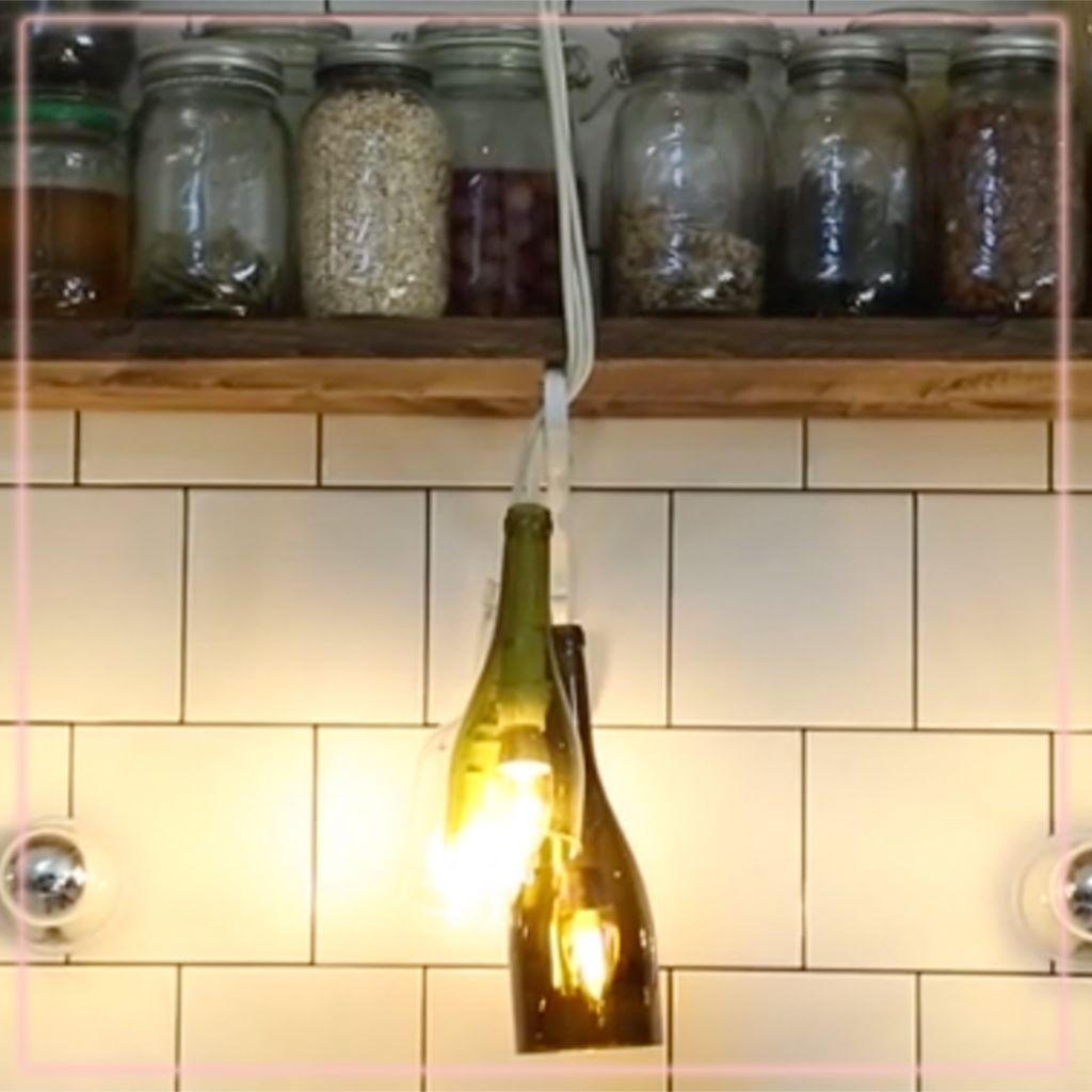 Comment Fabriquer Une Applique Murale fabriquer une lampe avec des bouteilles - elle décoration